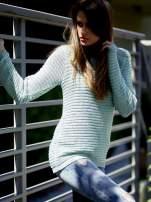 TOM TAILOR Zielony włóczkowy sweter
