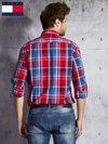 TOMMY HILFIGER Czerwona koszula męska w kratę                                  zdj.                                  2