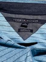 TOMMY HILFIGER Niebieska koszulka polo męska w paski                                  zdj.                                  4