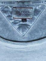TOMMY HILFIGER Zielony dekatyzowany t-shirt męski                                  zdj.                                  6
