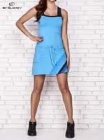 Fuksjowa sukienka sportowa z szarymi wstawkami                                                                          zdj.                                                                         7
