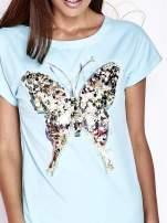 Turkusowa sukienka z cekinowym motylem                                  zdj.                                  5