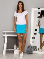 Białe gładkie spodenki spódniczka tenisowa