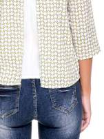 Wzorzysta żółta koszula o kroju narzutki                                  zdj.                                  7