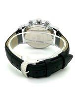 ZEMGE Zegarek unisex czarny na skórzanym czarnym pasku Eleganckie pudełko prezentowe w komplecie                                  zdj.                                  4
