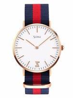 ZEMGE Zegarek unisex złoty na nylonowym pasku Eleganckie pudełko prezentowe w komplecie                                  zdj.                                  1