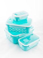 Zestaw jasnoniebieskie pojemniki do żywności 5 elementów                                  zdj.                                  4