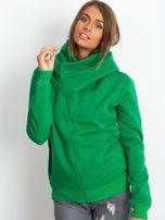 Zielona bluza z asymetrycznym zapięciem                                  zdj.                                  5