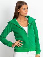 Zielona bluza z miękkim kołnierzem                                  zdj.                                  5