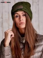 Zielona czapka moro z ćwiekami FUNK N SOUL