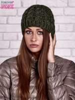 Zielona czapka z metaliczną nicią                                  zdj.                                  1