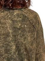 Zielona dektyzowana bluza z nadrukiem SOHO HARLEM LITTLE CHINA