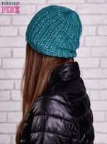 Zielona dziergana czapka z cekinami                                  zdj.                                  2