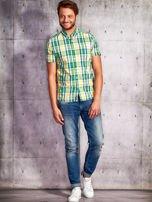 Zielona koszula męska w kratę Funk n Soul