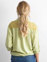 Zielona koszula z długim rękawem                                   zdj.                                  2