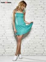 Zielona letnia sukienka w groszki Funk n Soul                                                                          zdj.                                                                         7