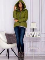 Zielona pikowana kurtka z kapturem                                  zdj.                                  6