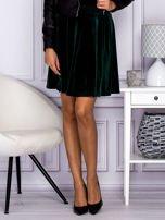 Zielona spódnica z weluru                                  zdj.                                  1