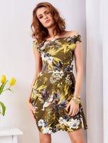 Zielona sukienka w łączkę                                  zdj.                                  1
