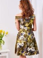 Zielona sukienka w łączkę                                  zdj.                                  2