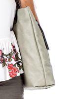 Zielona torba z nadrukiem                                   zdj.                                  3
