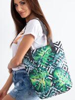 Zielona torba z nadrukiem liści                                  zdj.                                  1