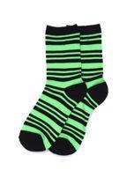 Zielone bawełniane skarpetki gładkie i w paski 2-pak                                  zdj.                                  3