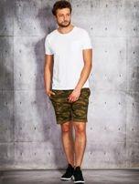 Zielone szorty męskie w militarnym stylu                                  zdj.                                  4