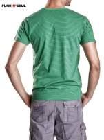 Zielony klasyczny t-shirt męski w paski Funk n Soul                                                                          zdj.                                                                         5