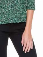 Zielony melanżowy sweter bouclé                                                                          zdj.                                                                         6