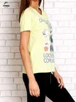 Zielony t-shirt z kwiatowym numerem 25                                                                          zdj.                                                                         3