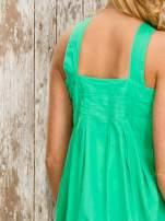 Zielony top damski na ramiączkach z guzikami                                  zdj.                                  7