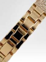 Złoty cyrkoniowy zegarek damski na bransolecie                                  zdj.                                  4