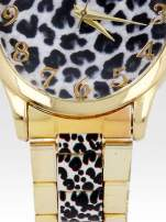 Złoty zegarek damski na bransolecie z motywem panterkowym                                                                          zdj.                                                                         5