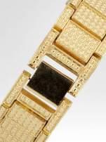 Złoty zegarek damski na bransolecie zdobiny cyrkoniami                                                                          zdj.                                                                         4