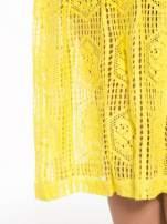 Żółta ażurowa spódnica midi                                                                          zdj.                                                                         9