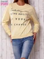 Żółta bluza z napisem                                  zdj.                                  2