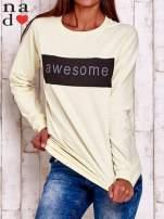 Żółta bluza z napisem AWESOME