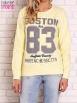 Żółta bluza z napisem BOSTON 83