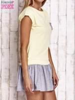 Żółta dresowa sukienka tenisowa z kieszonką                                  zdj.                                  3