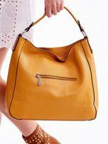 Żółta miękka torba na ramię z ćwiekami                                  zdj.                                  6