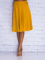 Żółta rozkloszowana spódnica midi                                  zdj.                                  1