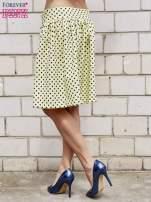 Żółta spódnica w grochy z plisami                                                                          zdj.                                                                         5