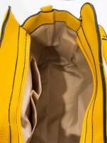 Żółta torba z klamrami z odpinanym paskiem                                                                          zdj.                                                                         9