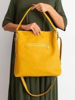 Żółto-beżowa torba z odpinanym paskiem                                  zdj.                                  2