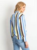 Żółto-biała koszula w paski                                  zdj.                                  2