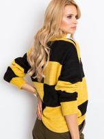 Żółto-czarny sweter Francesca                                  zdj.                                  2