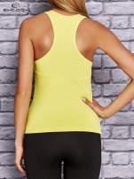 Żółty modelujący top sportowy bokserka