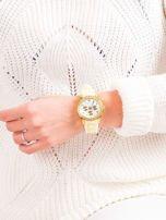 Żółty silikonowy zegarek damski                                  zdj.                                  4