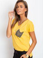 Żółty t-shirt Shelly                                  zdj.                                  3